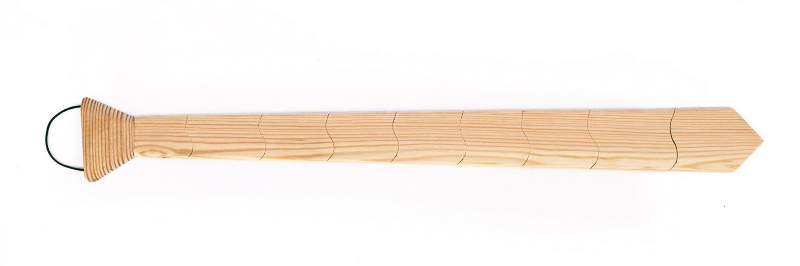Cravatta di legno
