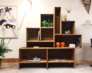 Libreria componibile in legno massiccio MODULA